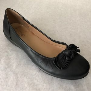 Hotter Shoes Size 8 Black Jewel Loafers Comfort
